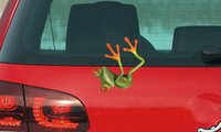 Wholesale Auto Motorcycles Personality Car Sticker Frog Pattern Funny Popular D Stereo Cartoon Exterior Accessories Multiple Patterns
