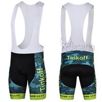 Wholesale Hot Tour de France Cycling Shorts Pro Team Tinkoff Saxo Bank Cycling Bib Shorts Military Cycling Clothing Outdoor Sports Bottom Cycling Wear