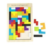 wooden toys for children - Wooden Quality Tangram Brain Teaser Puzzle Tetris Preschool Magination Child Wood Intellegence Toy Best Gift For Baby