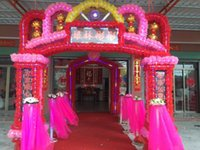 Wholesale D silk flower door arches Electronic Arts launched balloons