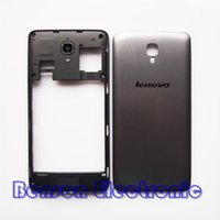 antenna case - Original Middle Holder Frame Battery Back Cover For Lenovo S660 S668T Housing Case With Antenna Camera Lens Flash Lens Speaker