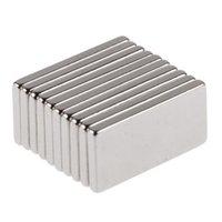 Wholesale 10Pcs Super Strong Block Fridge Magnets Silver Color Neodymium x10x2mm N35