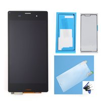 Wholesale High Quality Original A LCD For Sony Z3 Compact LCD Display With Touch Screen Digitizer assembly Black Color Free Ship