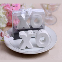Wholesale DHL Hugs and Kisses XO Ceramic Salt And Pepper Shaker Beach Party favor Souvenirs wedding favors sets