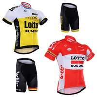 cycling jersey wholesale - 2016 New Lotto Team Bike Cycling Jersey Cycle Cycling Clothing Roupa Ciclismo Quick Dry Racing Bike Jerseys Free DHL