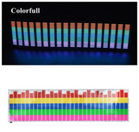 activated carbon sheets - New CM Colourful Music Rhythm Pattern Car Sticker EL Sheet Music Equalizer Car Windshield Sticker Sound Activated Light