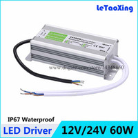 Wholesale DC W LED Driver Transformers Waterproof Power Supply Transformer Power Adapter V V W A A AC V Outdoor Use IP67