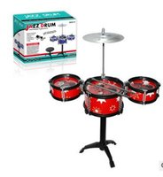 Wholesale CHILD DRUM SET TOY ABLE BODIED PULSATILE JAZZ DRUM KIT MUSIC TOYS EXRLOSION OF CHILDREN S TOYS YEARS OF AGE