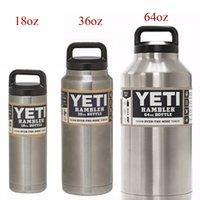 Wholesale Yeti oz oz oz Rambler Stainless Steel Cups Large Cooler YETI Rambler Tumbler Cup Vehicle Beer Mug Double Wall Bilayer Vacuum