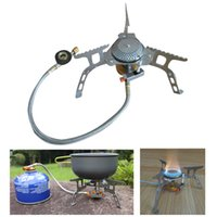 Wholesale Portable Stove Outdoor Gas Stove Camping Hiking Picnic Stove with Igniter W Cooking Furnace Camping Equipment