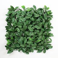 Wholesale 12 Pieces cm x cm Artificial Boxwood Panels Decorative Artificial Plants Plastic Boxwood Hedges Mats Garden Ornaments