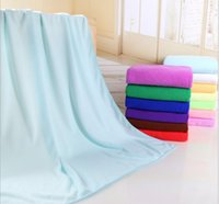 Wholesale Absorbent Microfiber Bath Beach Towel Drying Washcloth Swimwear Shower Fashion x140cm Towel