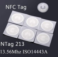 Wholesale NFC TAG Sticker MHz ISO14443A NTAG NFC Sticker Universal Lable RFID Tag for all NFC enabled phones