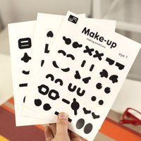 Wholesale cute sticker Sheets Funny Emoji Face Stickers DIY Fridge Magnets Switch Stickers good quality