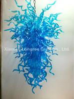 art glas - C47 Art Design Blue Hand Blown Glass Chandelier Light Modern LED Decoration Hanging Glass Fancy Light Turkish Mosaic Glas Lamps