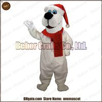 Wholesale splendid christmas bear mascot costume cheap high quality carnival party Fancy plush walking white bear mascot adult size