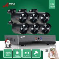 ANRAN HD 1080N 8CH HDMI DVR CCTV Vidéo 6pcs Array extérieur IR Home Security Camera System Gratuit 1TB HDD