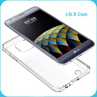 Wholesale Cam Accessories - LG X Cam Case Clear Hybrid Bumper Shockproof Back Cover Phone Accessories For LG X Cam
