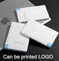 Wholesale Hot ultra thin Card Mobile Power Bank mah Portable cellphone Powerbank Phone Universal Charger factory Custom LOGO