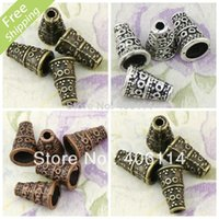 Wholesale MIC Antiqued Copper Silver Bronze Circle Dots Fancy Bead Cone X7mm colors Jewelry DIY