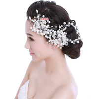 alexandrite price - Low price elegant Wedding Bridal Jewelry crystal flower lace headpiece floral headdress hair accessories hairband headband