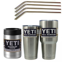 beer red - Bilayer Stainless Steel cups Insulation Cup OZ OZ OZ beer mug with Drinking Straw and cleaning brush