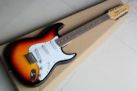 Wholesale Hot Sale Wood color Back P90 pickup Rosewood fingerboard Golden Standard Electric Guitar string Top Guitars have HardCase