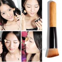 Wholesale Multi Function Pro Makeup Brushes Powder Concealer Blush Liquid Foundation Make up Brush Set Wooden Kabuki Brush Cosmetics DHL