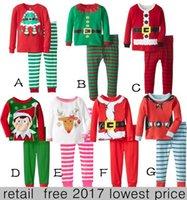 baby cotton sleepwear - 2017 New Christmas Pajamas Long Sleeve Pyjamas Boy Girl Autumn Winter Pajamas Kids Pajama Sets Xmas Pajamas Baby Sleepwear Kids Cothes Set