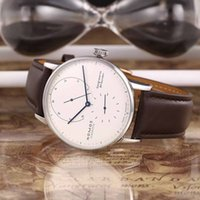 avant garde watch - New Listing HOT Sale high quality NOMOS LAMBDA Watch Power Reserve Male Clock Silver Case Leather Exquisite avant garde Mechanical Watches