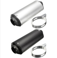 atv pipes - 28mm mm Black Silver Universal Motocross Motorcycle Exhaust Muffler Tip Pipe for cc Dirt Pit Bike ATV CQR