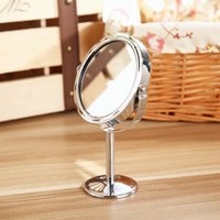 Wholesale 2016 Hot Selling Beauty Makeup Cosmetic Mirror Double Sided Normal and Magnifying Stand Mirror