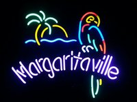 neon sign - Margaritaville Parrot Real Glass Neon Sign Beer Bar