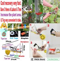 Wholesale Plant Hand Tying Binding Machine Garden Flower Vegetable Tapetool can operate it with only one hand