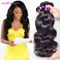 Wholesale Body Wave Brazilian Virgin Human Hair Weave Bundles Body Wave Wavy Hair quot quot Hair Extensions