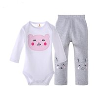 Wholesale Baby Rompers Suit Summer Infant Triangle Romper Onesies cotton long sleeved babies clothes pure white for boy girl best gift