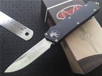 automatic cnc machine - Combat Knife Microtech Scarab Executive D A S E Automatic Knife quot Satin CNC D2 Steel T6 Machined Aluminum Handle F616E