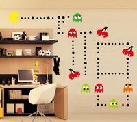 bedroom sets men - 5 Sets Pac Man Korean Wall Stickers Children s Room Cartoon Wall Stickers