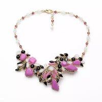 art copper supplies - 2016 Gorgeous flower art fan club fashion necklace Fashion Jewelry Factory Supply Lead Nickle free