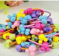 animal treasures - New Hot Korean version of the candy colored beaded animals Children rubber band hair accessories e mail treasure