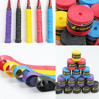 Wholesale Tennis Racquet Overgrip Color PU Soft Absorb Moisture And Anti Slip Overgrip For Tennis And Badminton Racket Bike Bar Free DHL E577L