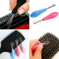 Wholesale Novelty Hair Brush Cleaner Comb Cleaner Steel Hair Brush Remover Embedded Plastic Handle Home Hair Tool