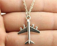 aircraft alloy steel - WYSIWYG simple fashion antique silver color mm aircraft necklace