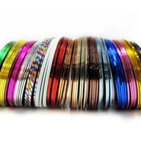 Wholesale 32Pcs Mixed Colors Nail Art Decorations Nail Sticker Striping Tape Line High Quality Stickers Manicure Stickers for Nails