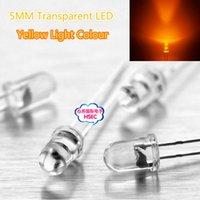 Wholesale Transparent Round LED MM Yellow LED light emitting diode F5mm Yellow LED