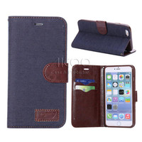 accessories fashion jeans - Retro cowboy jeans PU Leather wallet pocket Stand case for ipad mini air ipad pro inch Samsung galaxy Tab e inch