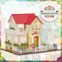 Wholesale Diy Miniature Doll House Include Furniture D Wooden Puzzle Building Model Dollhouse For Birthday Gifts Toys Princess Cottage