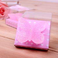 La boda rosada de la vela de la mariposa favorece el envío libre de DHL de la vela de la boda de la fiesta de cumpleaños de la fiesta de cumpleaños del regalo de los regalos
