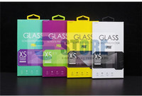 Wholesale Customize acceptable Personality Design Tempered Glass Screen Protector Retail Package Box for Cell phone Multi Colors
