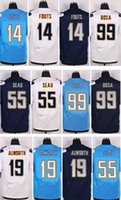 Wholesale 2016 New Elite Chargers Jerseys Lance Alworth Philip Rivers LaDainian Tomlinson Junior Seau Joey Bosa Dan Fouts Blue White